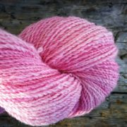 Candyfloss naturally dyed with cochineal