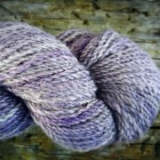 Lilac naturally dyed with logwood and iron