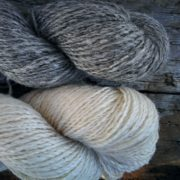 BFL Suri Alpaca Blend Natural Silver & Natural Cream