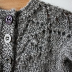 Gotland Light Grey Granny's Favourite Cardigan (details in 'Designs & Tutorials')