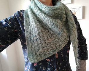 Lode Shawl in Longwool Blend - photo by Black Isle Yarns