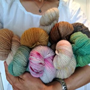Cheviot naturally dyed