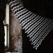 Eathie Shawl in Black Isle Yarns 4ply - photo by Emily K Williams
