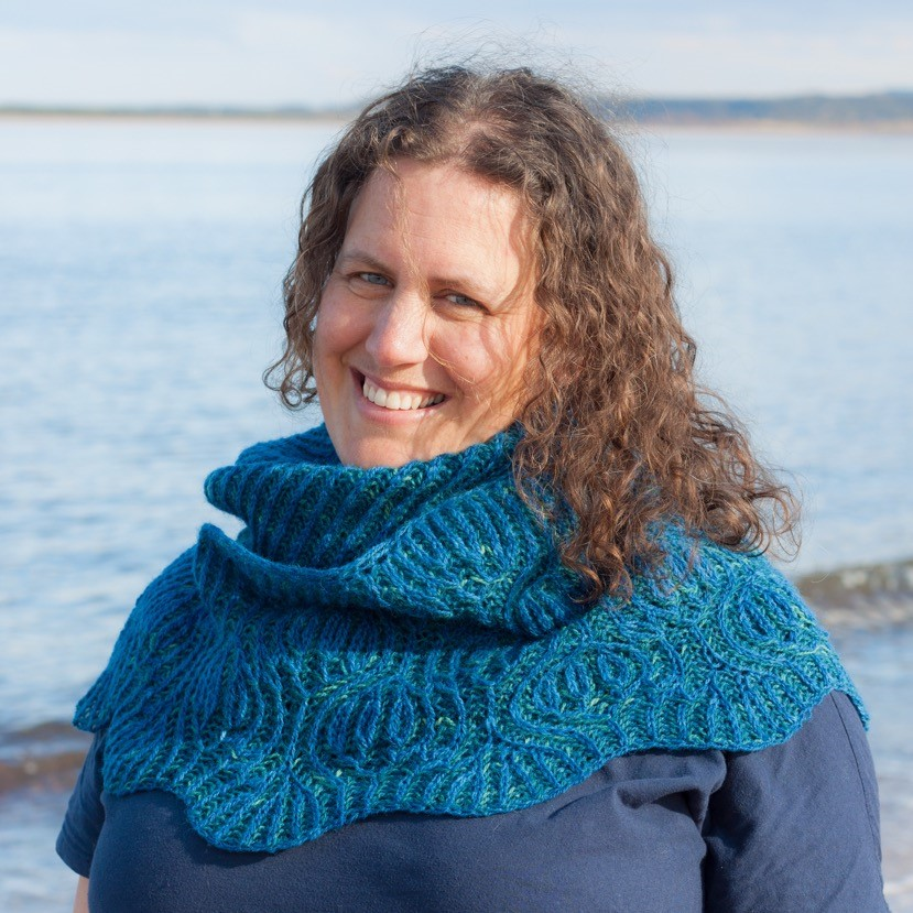 Erradale Shawl by Flutterbyknits in Black Isle Yarns Coulmore 4ply