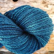 Killen Sock Deep Indigo Teal naturally dyed with indigo & bramble leaves