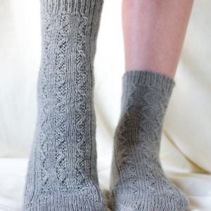 Munlochy Sock by Clare Devine in Sage - photo by Clare Devine