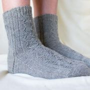 Munlochy Socks in Killen Sock Sage - photo by Clare Devine