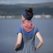 Polkagris Kerchief by Kate Davies Designs - photo by Kate Davies Designs