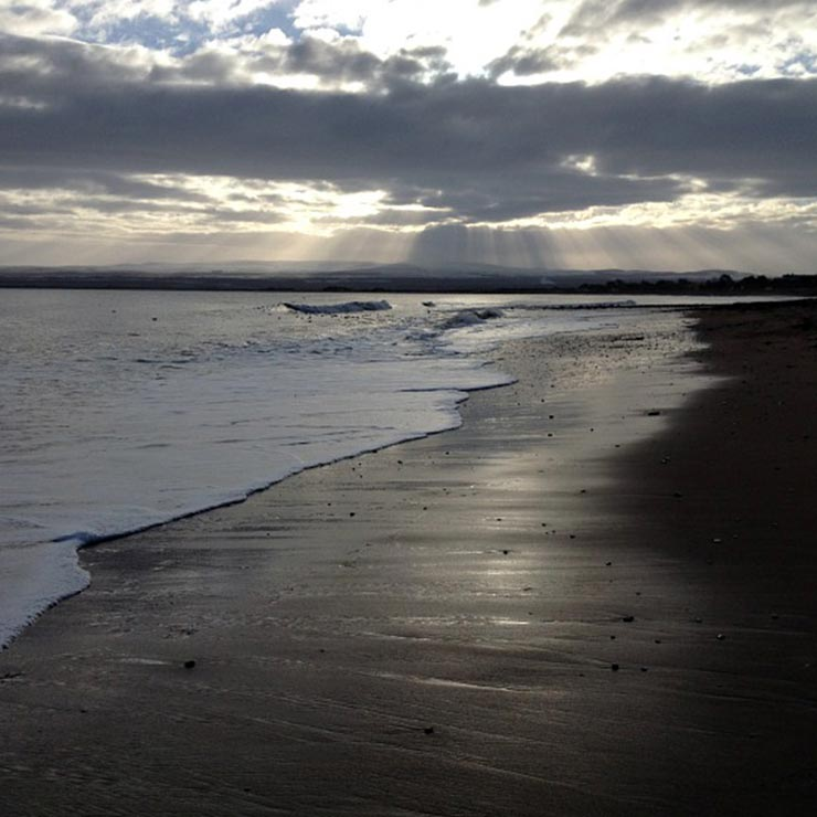 Rosemarkie beach on a winter morning