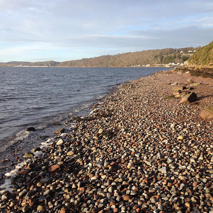 Fortrose Harbour with Avoch beyond
