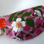 Pink strawberries notions pouch