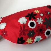 Red floral notions pouch