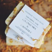 Coconut Milk & Calendula Soap - photo by Nurturing Soul
