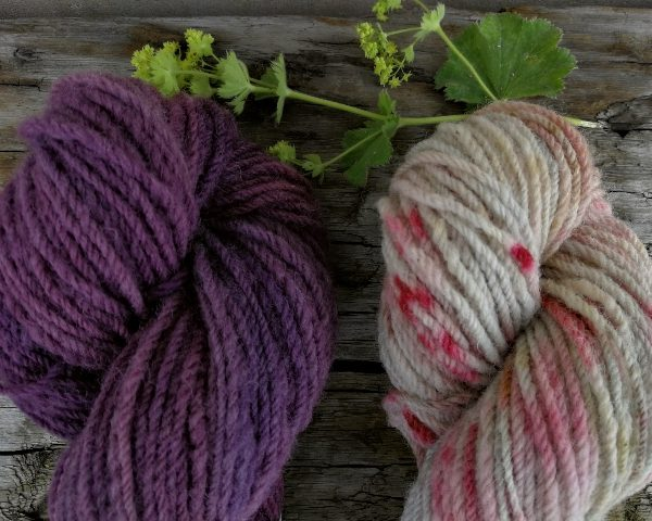 Plum & Hundreds & Thousands Roussin Worsted