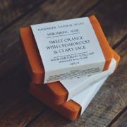 Sweet Orange with Cedarwood & Clary Sage Soap - photo by Nurturing Soul
